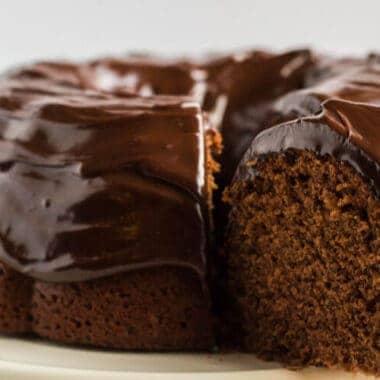 decadent chocolate sour cream pound cake