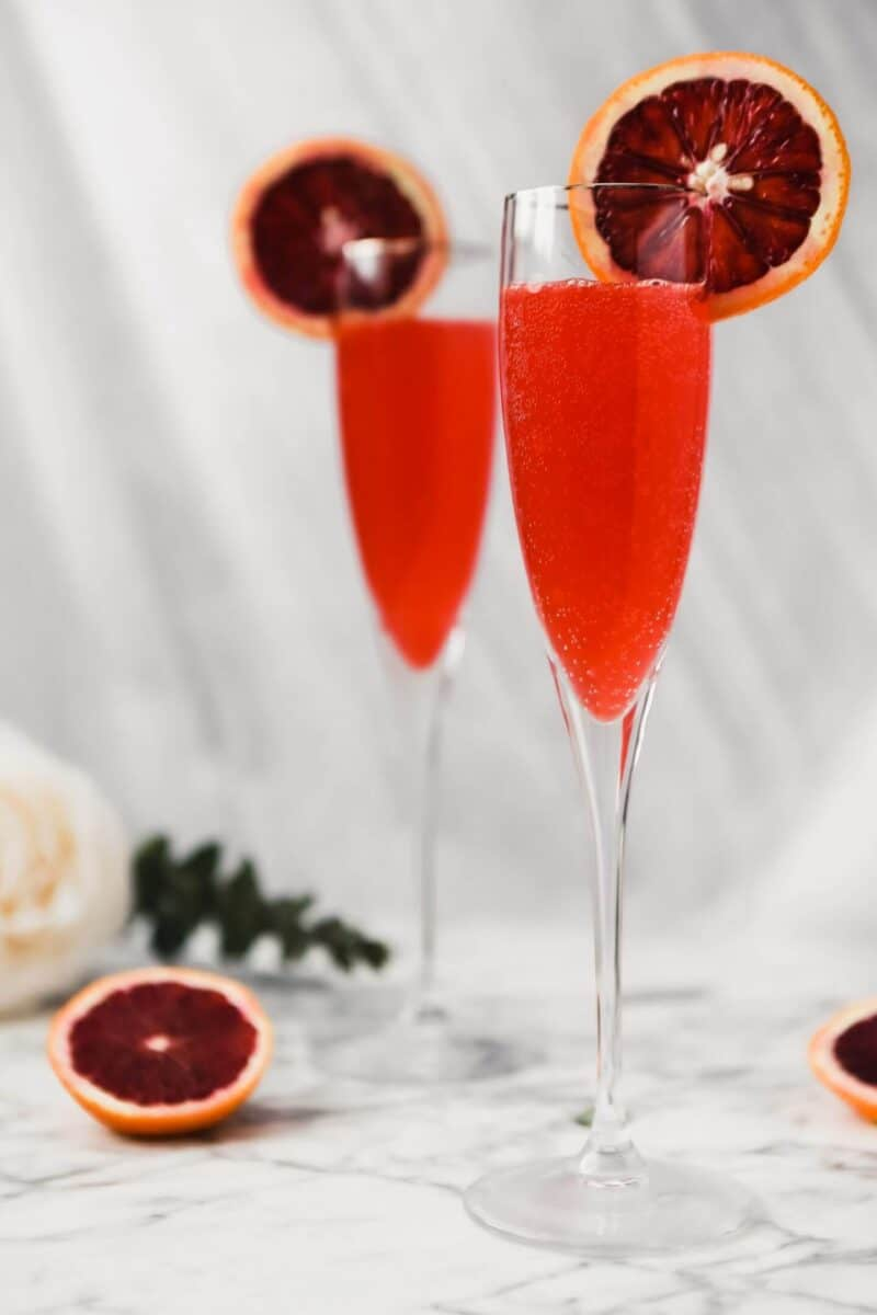 champagne cocktail mimosa blood orange