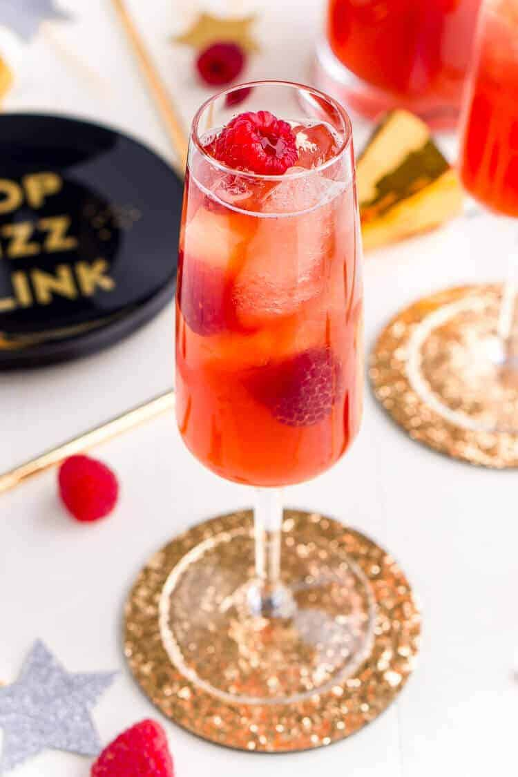 new years champagne cocktail recipes