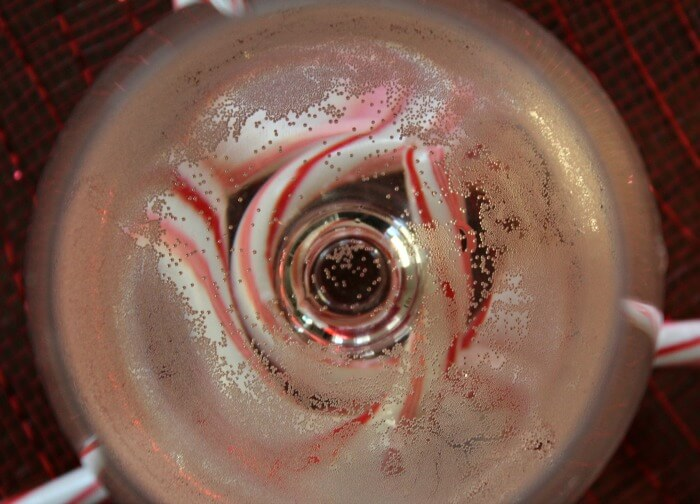 peppermint champagne cocktail