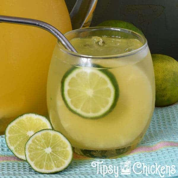 pineapple lime champagne cocktail