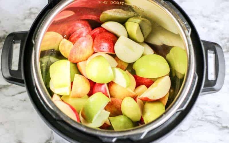 apples cut up for instant pot applesauce