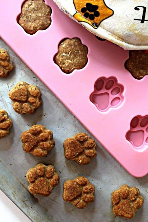 Paw Prints Peanut Butter Dog Cookies