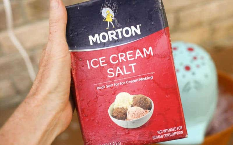 ice cream salt you can find at the grocery store to use in your ice cream maker