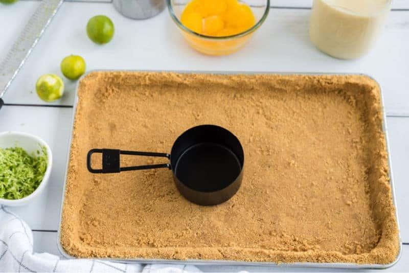 slab pie crust in a jelly roll pan